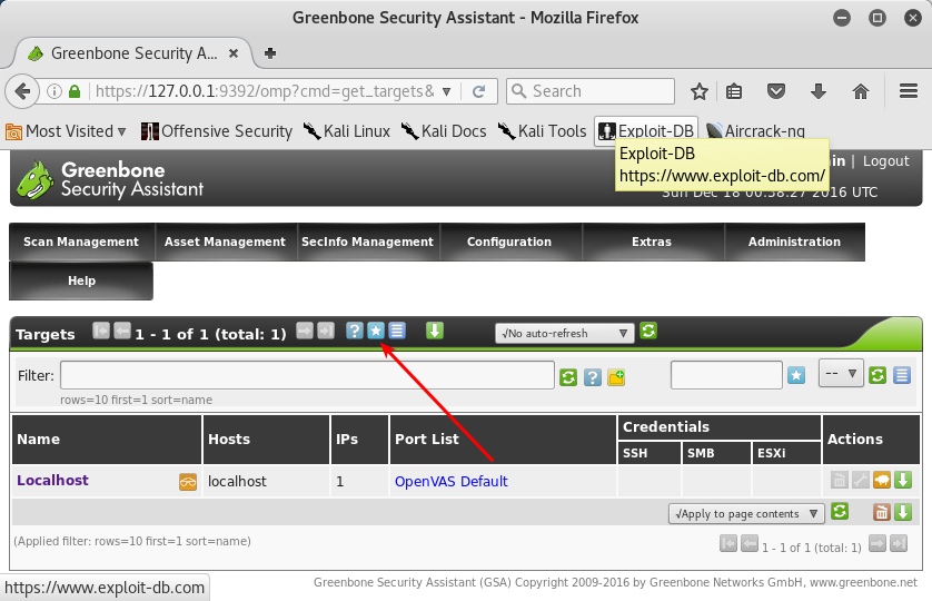 greenbone security assistant